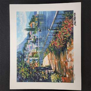 """""""Sunlit Stroll"""" by Howard Behrens - Signed, Numbered, &"""