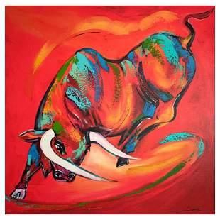Coloured Bull by Gockel, Alfred Alexander