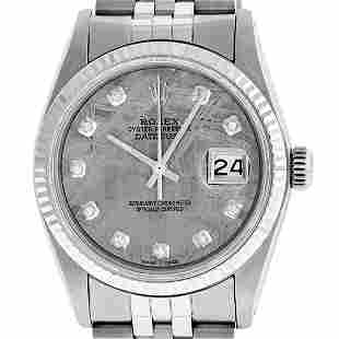 Rolex Mens Stainless Steel Meteorite Diamond 36MM