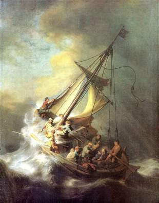 Rembrandt - Christ in the Storm on the Lake of Galilea