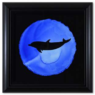 Dolphin Abstract by Wyland Original