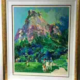 """""""Gavea Golf Club"""" by LeRoy Neiman (1921-2012)"""