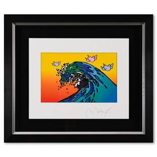 The Great Wave with Doves by Peter Max