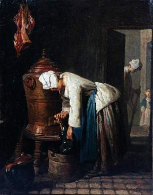 Jean Baptiste Chardin - Woman Drawing Water at the