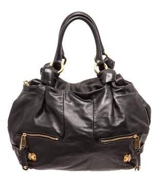 Marc Jacobs Black Leather Mercer Parker Shoulder Bag