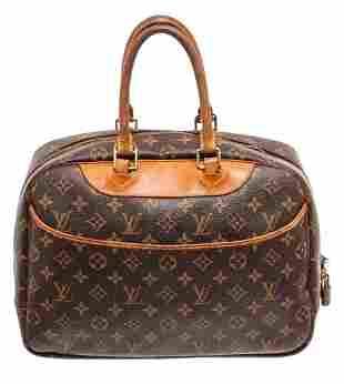 Louis Vuitton Brown Monogram Deauville Satchel Bag
