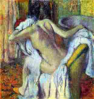 Edgar Degas - After Bathing #4