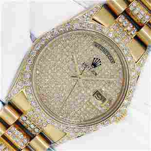 Rolex President Day Date 18K Yellow Gold Iced Out