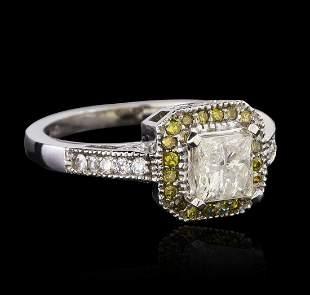 KT White Gold 1.31 ctw Diamond Ring