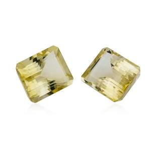 23.34 ctw.Natural Emerald Cut Citrine Quartz Parcel of