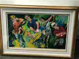 Big Six Golfers by LeRoy Neiman (1921-2012)