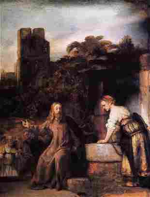 Rembrandt - Christ and the Woman of Samaria