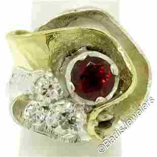 18kt Yellow Gold and Sterling Silver 2.73 ctw Garnet