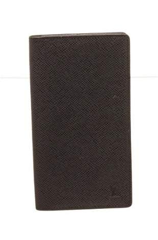 Louis Vuitton Black Taiga Long Bifold Wallet