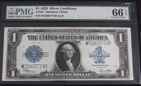 65: 1923 $1.00 Silver Cert. PMG 66 EPQ AW3