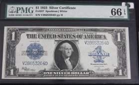 49: 1923 $1.00 Silver Cert. PMG 66 EPQ AW4