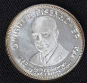 57: Dwight Eisenhower 33.1gm. Sterling Silver President