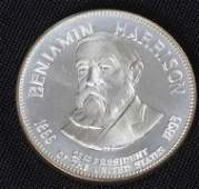 351: Benjamin Harrison 33.1gm. Sterling Silver Presiden
