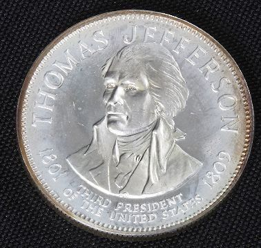 Thomas Jefferson 33.1gm. Sterling Silver President