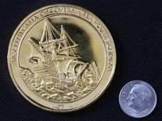 """1150: """"Vasco Da Gama"""" #43 24Kt Gold Plated Sterling Sil"""