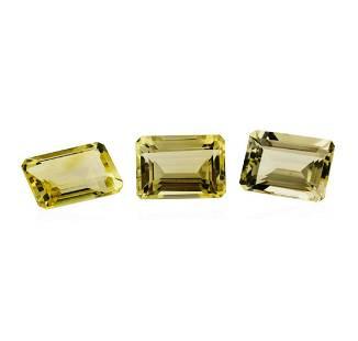 21.68 ctw.Natural Emerald Cut Citrine Quartz Parcel of