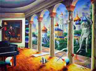 FERJO ** MUSIC ROOM WITH MICHELANGELO ** SIGNED