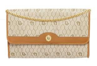 Christian Dior Beige Brown Trotter Chain Shoulder Bag