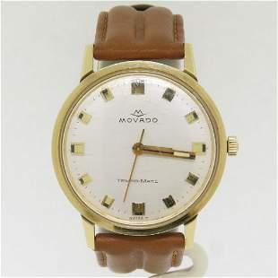 Vintage '60s Mens 14k Gold 34mm Movado Sub Sea Tempo