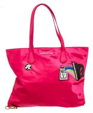 Marc Jacobs Pink Nylon Wingman Shopper Tote