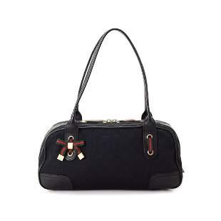 Gucci Black GG Canvas Princy Shoulder Bag
