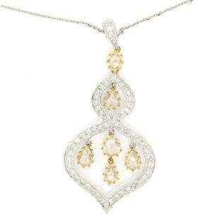 18kt White and Yellow Gold 2.10 ctw White and Yellow