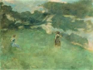 Thomas Dewing - The Hermit Thrush