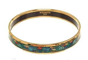 Hermes Multicolor Wide Enamel Bangle