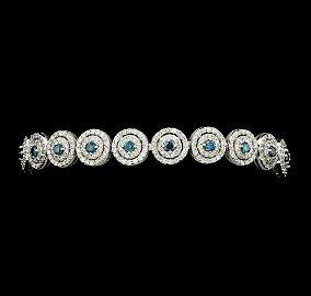 4.58 ctw Round Brilliant Cut Diamond Bracelet - 14KT