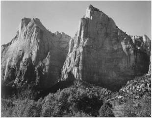 Adams - Court of the Patriarchs, Zion National Park
