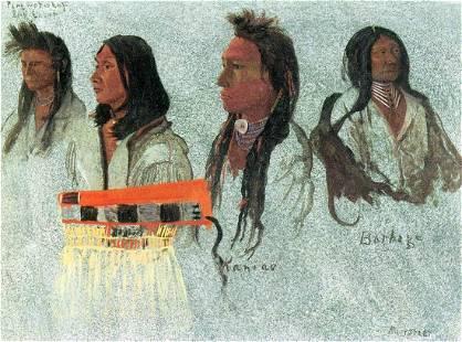 Four Indians by Albert Bierstadt