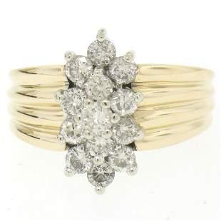 14k Two Tone Gold Diamond .85 ctw Round G VS Diamond