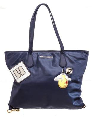 Marc Jacobs Navy Nylon Wingman Shopper Tote