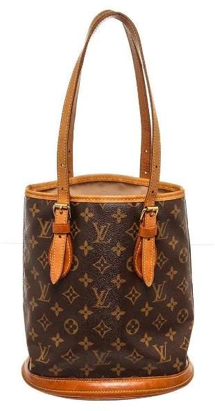 Louis Vuitton Brown Monogram PM Bucket Bag