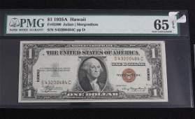 119: 1935A Hawaii $1.00 PMG 65 EPQ AW16