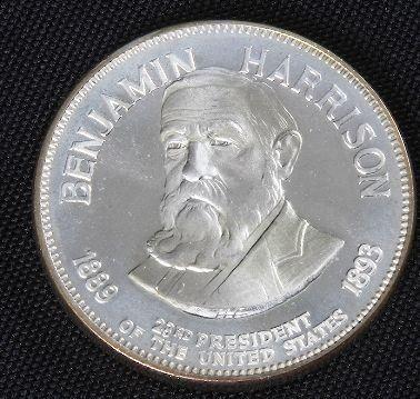 Benjamin Harrison 33.1gm. Sterling Silver Presiden