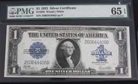 898: 1923 $1.00 Silver Cert. PMG 65 EPQ AW5