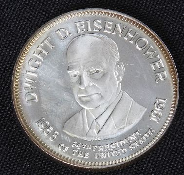 Dwight Eisenhower 33.1gm. Sterling Silver Presiden