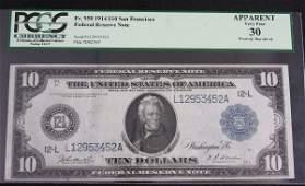 711: 1914 $10.00 FRN PCGS 30 AW6