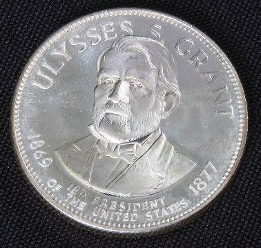 1003: Ulysses S. Grant 33.1gm. Sterling Silver Presiden