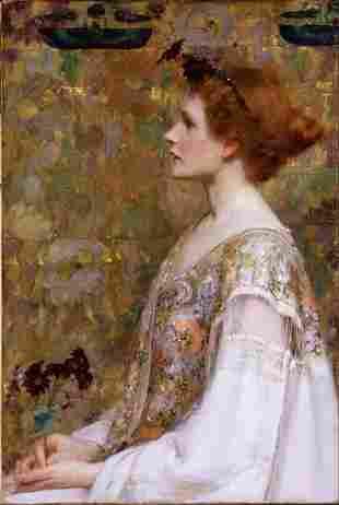 Albert Herter - Woman with Red Hair