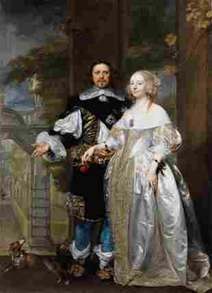 Gonzales Coques -Portrait of a Married Couple in the