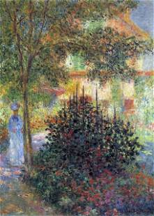 Claude Monet - Camille in the Garden of the House in