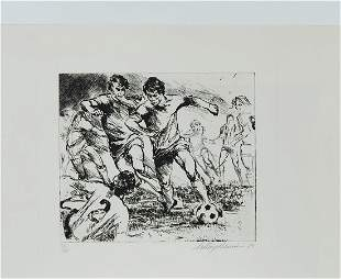 Soccer (Black & White) by LeRoy Neiman 75/250