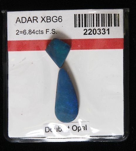 1: Doublet Opal (2) 6.84cts OP221